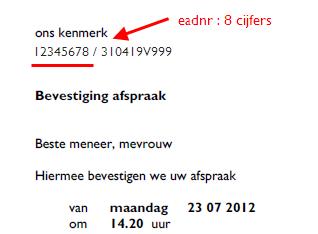 voorbeeldbrief afspraak bevestigen EAD number | .nexuzhealth.be voorbeeldbrief afspraak bevestigen